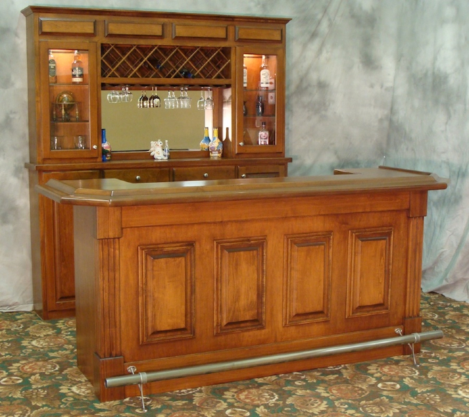 Custom Bars For Homes: Billiards And Barstools Gallery