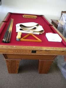 Furniture Auburn Al Just in: Used solid wood 8′ Kasson pool table, oak finish. Pick any ...