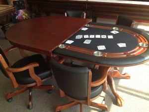 Wood Texas Hold Em Poker Table Billiards And Barstools