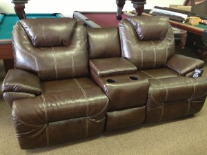 Really nice double recliner with nice console. TWO AVAILABLE! Retails normally for $1395. Closeout Models @ $795 ea.!