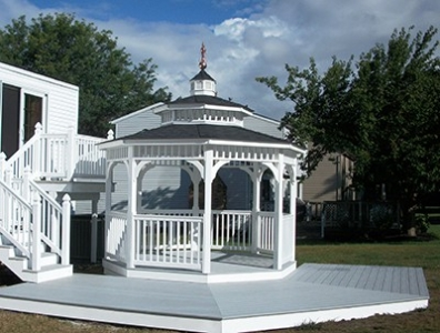 Lexington Vinyl Gazebo - Huntsville, AL