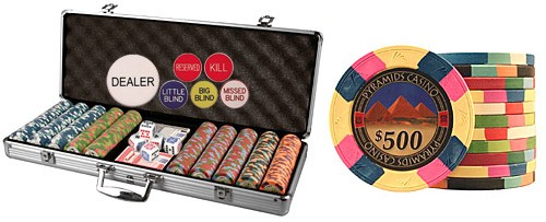 500 Chip Set 10 Gram No Insert Poker Set - Huntsville ALA