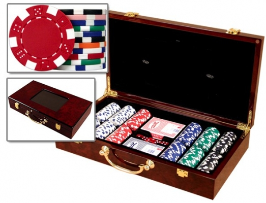 Wood Poker Case 300 with Chips Huntsville, AL