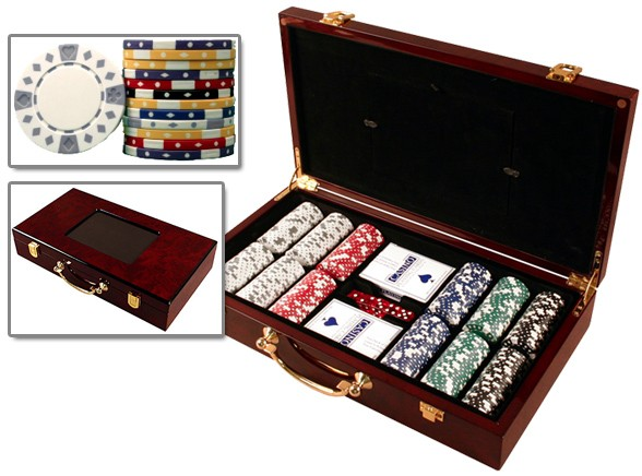 11.5 Gram Wood Case Poker Set 300 - huntsville, AL