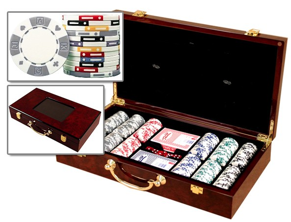 300 Wood Poker Case Set with Chips - Huntsville, AL