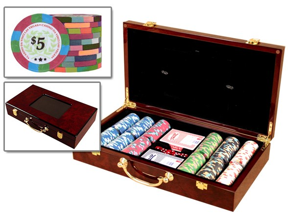 Casino Poker Chips 300 in Wooden Case - Huntsville, ALABAMA
