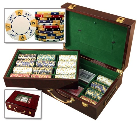 500 Wood Box Poker Chip Set Huntsville AL