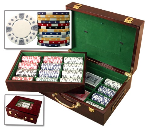 Huntsville, AL Poker Chip Set in Wooden Box 500 Count 11.5 Gram