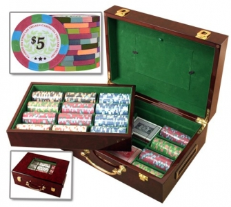 Da Vinci Poker Chip Set 500 in Wooden Customizable Box huntsville AL